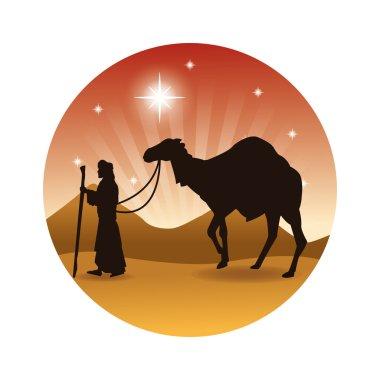 k icon. Merry Christmas design. Vector graphic