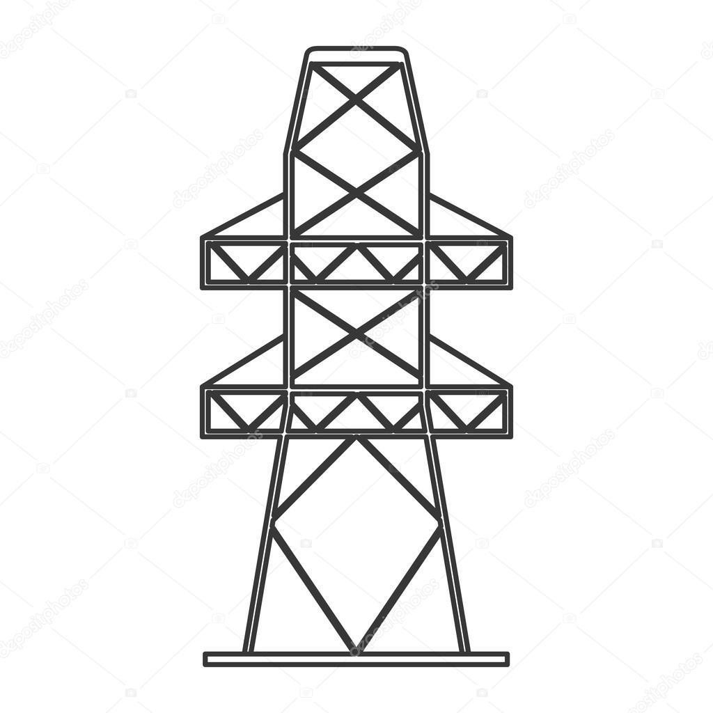 Strom-Turm-Symbol — Stockvektor © jemastock #116715496