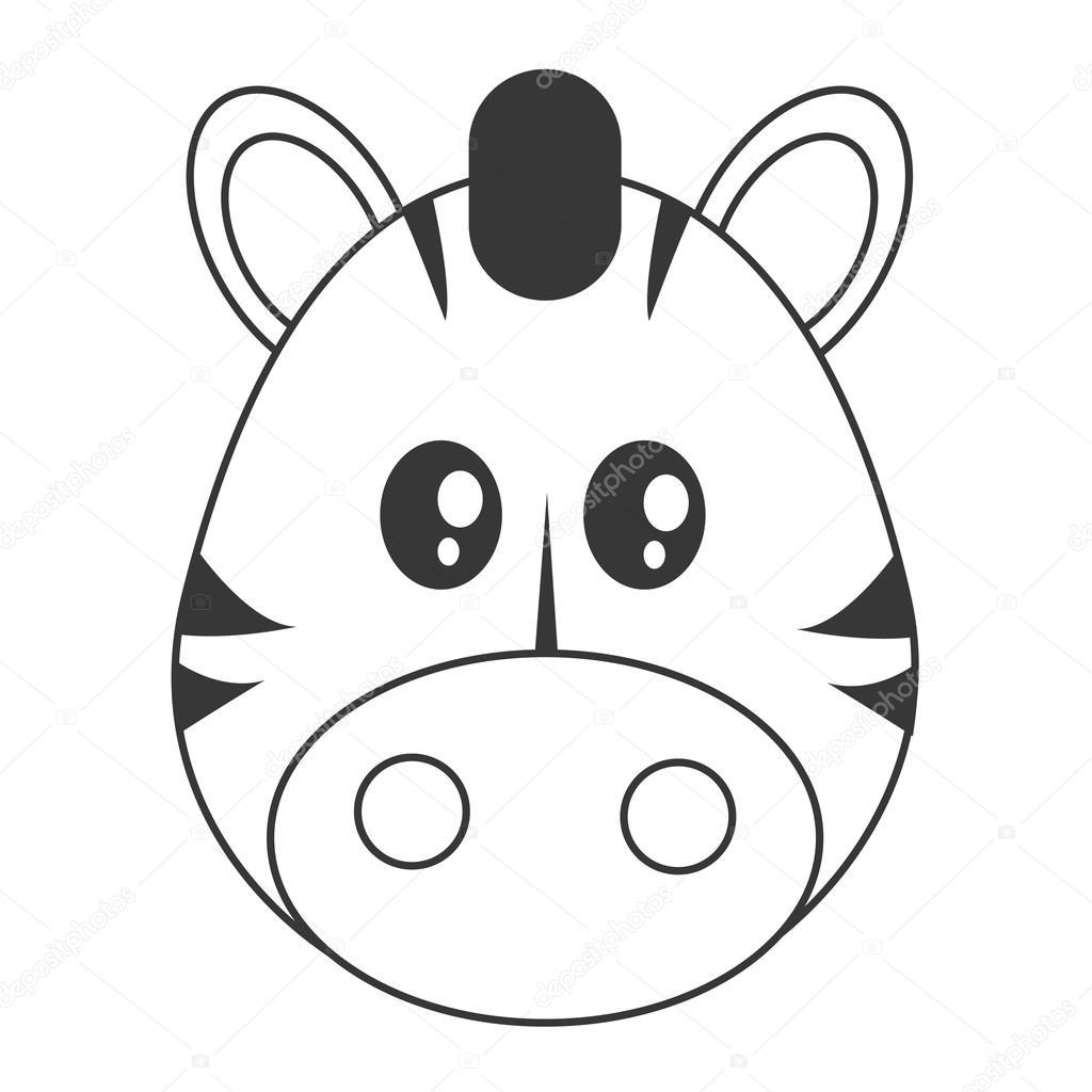 ícone De Zebra Bonito Dos Desenhos Animados