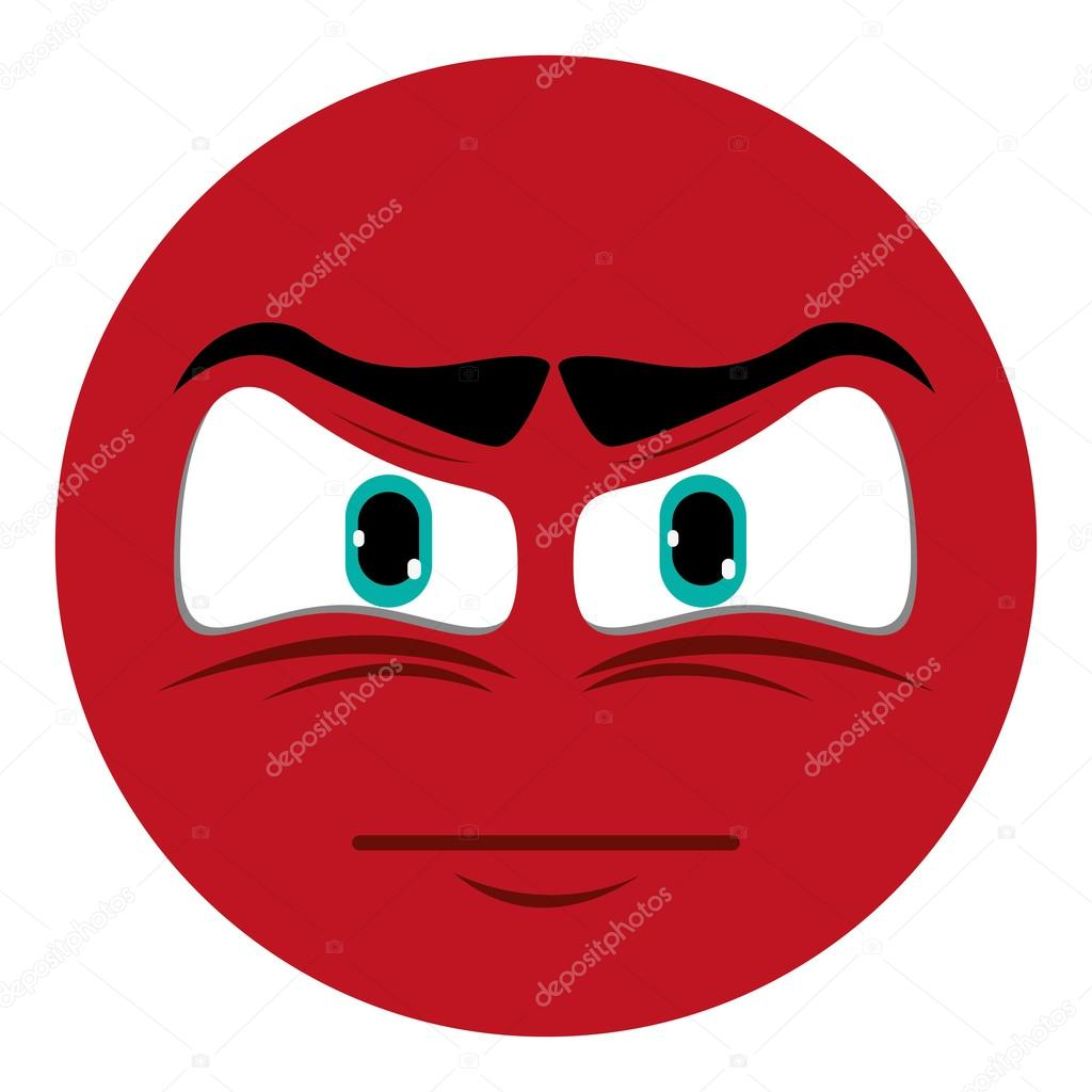 Angry Face Emoticon Icon Stock Vector Jemastock 118309274