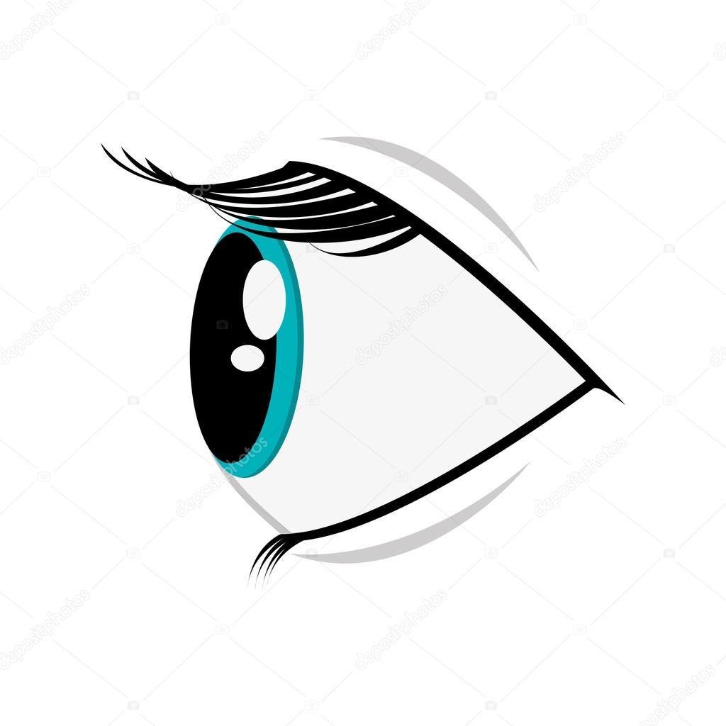 Ic ne de dessin anim oeil profil image vectorielle jemastock 118309646 - Profil dessin ...