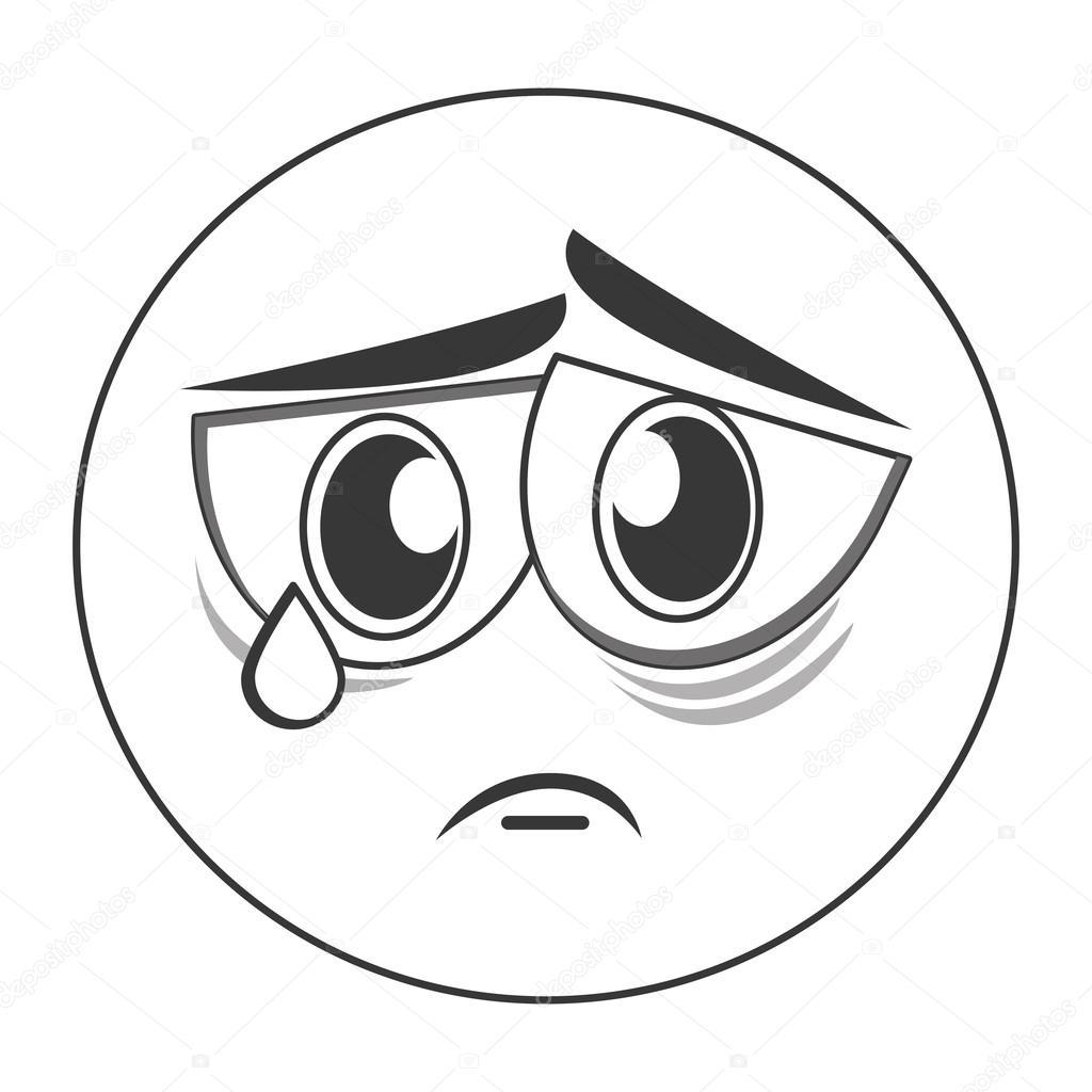 Trauriges Gesicht Emoticon-Symbol — Stockvektor