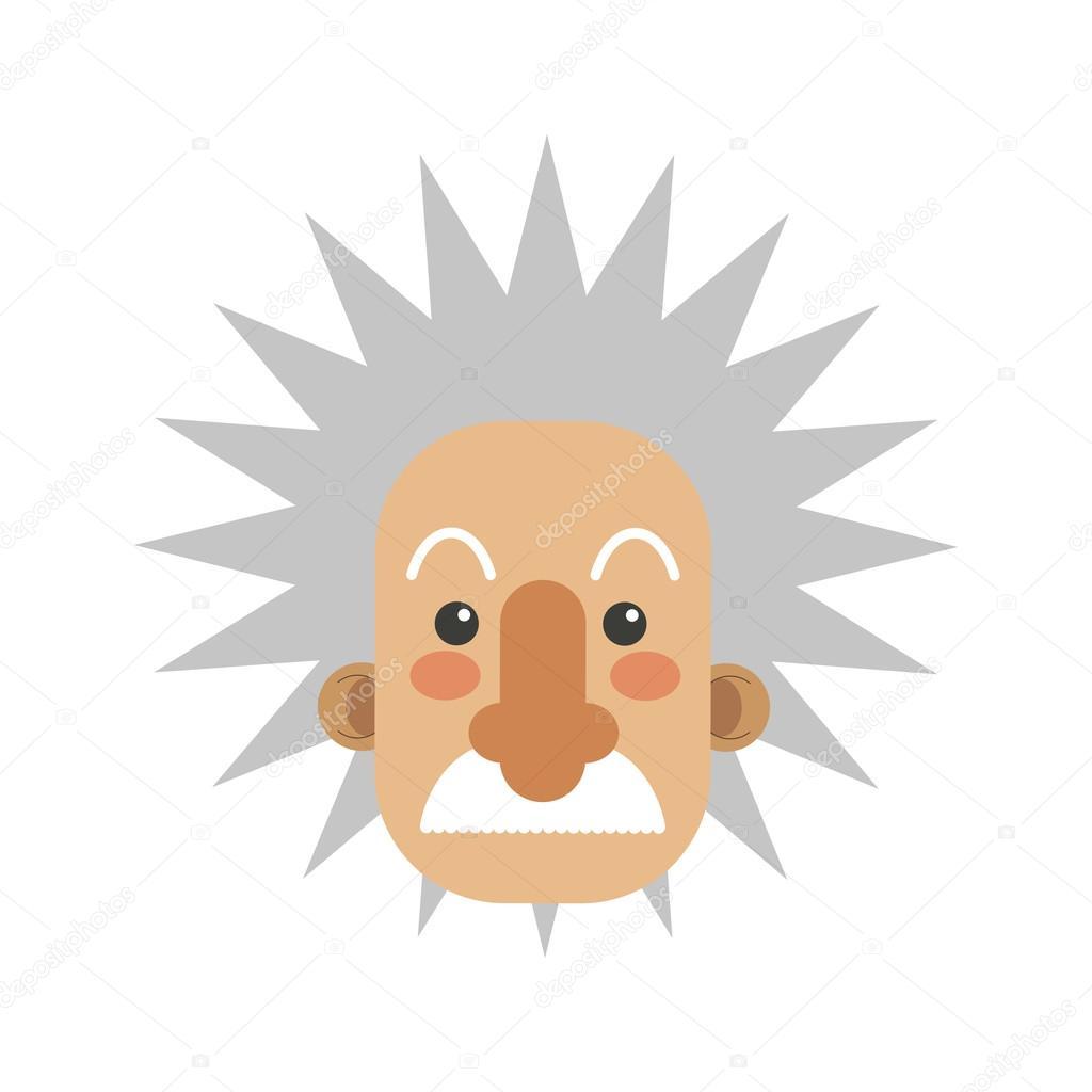 ícone dos desenhos animados do albert einstein vetor de stock