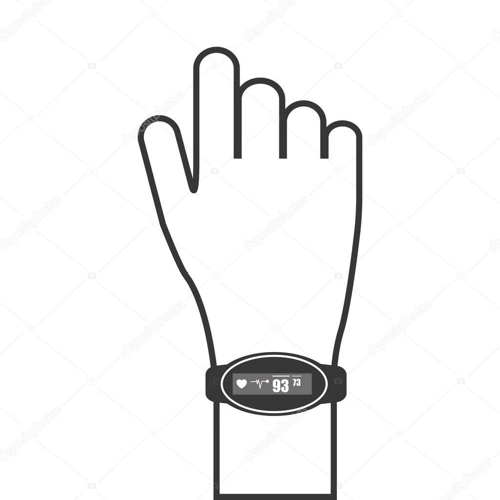 heartrate wrist tracker icon stock vector jemastock 118340278