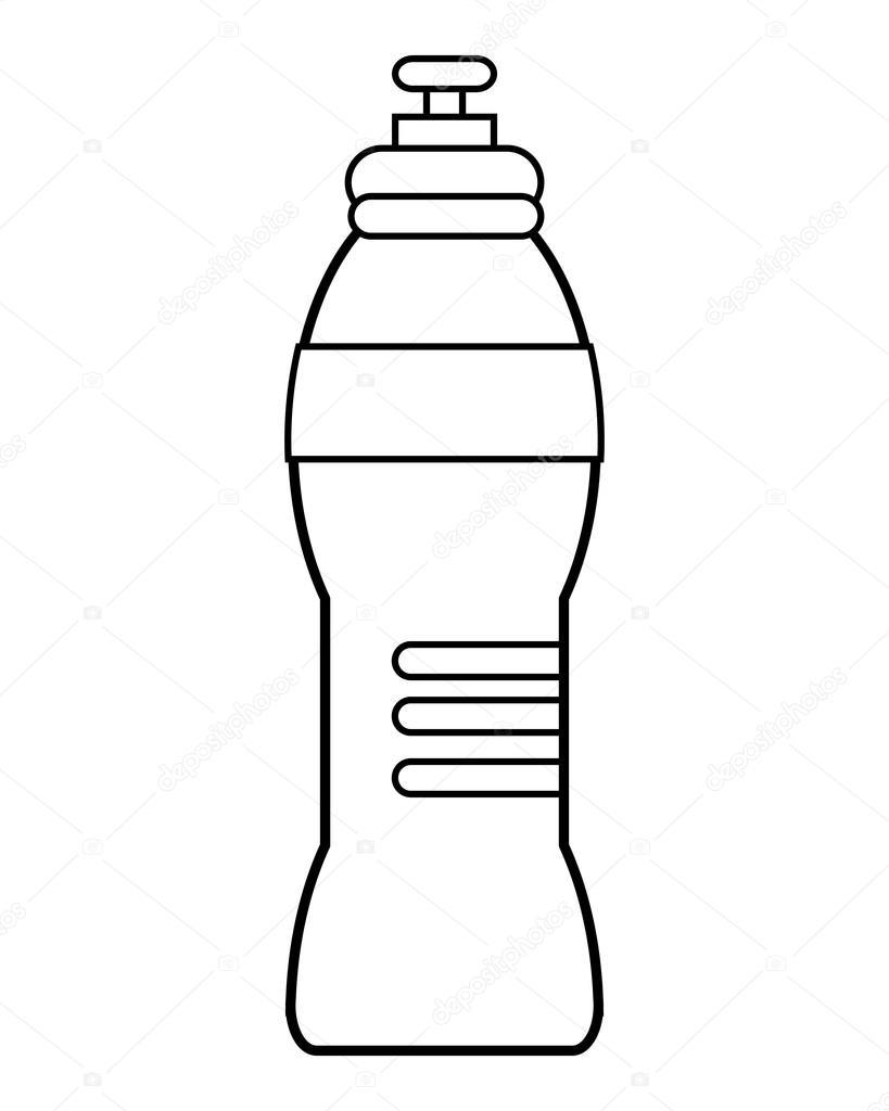 sports bottle drawing - 700×1080