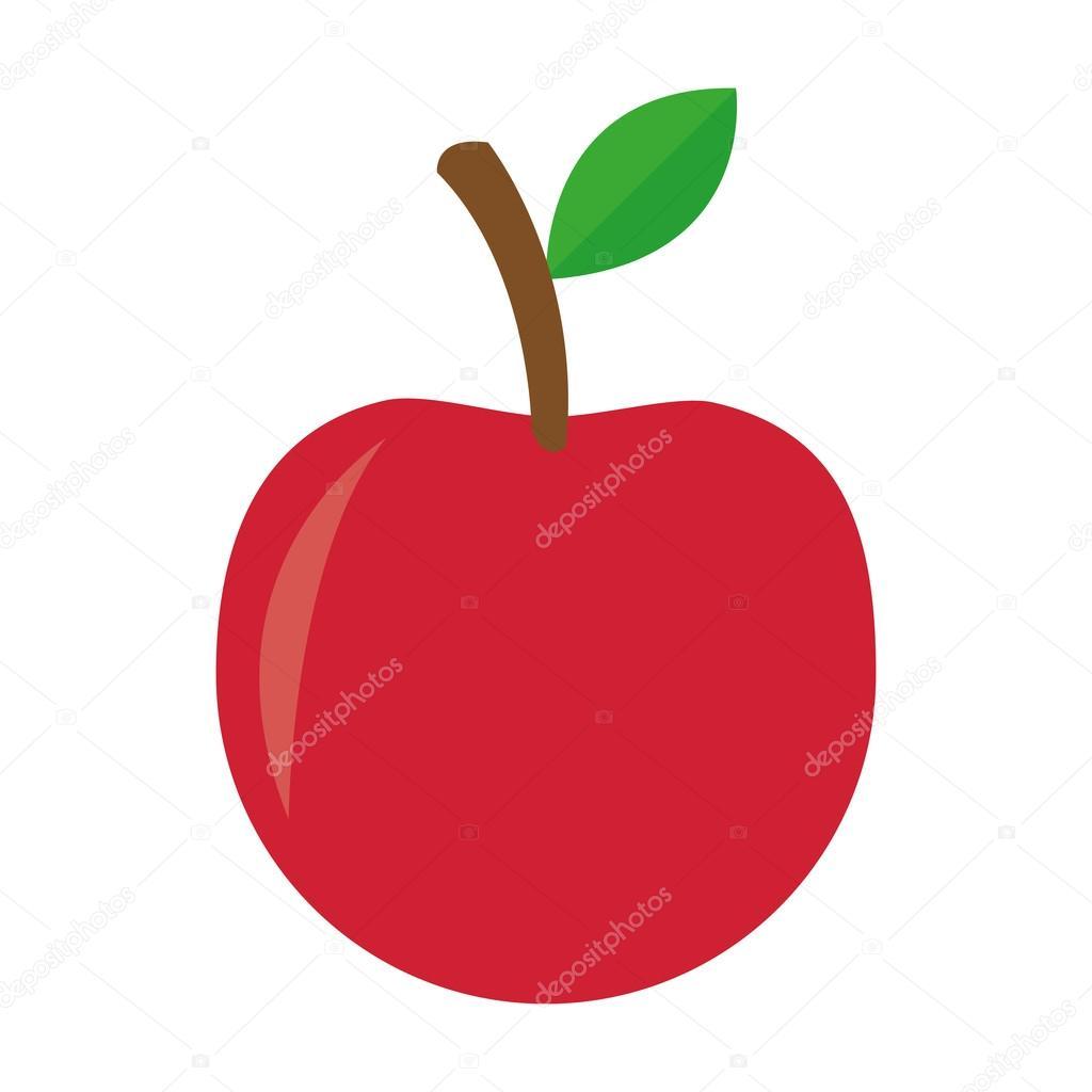 Bütün elma simgesi — Stok Vektör © jemastock #118446560