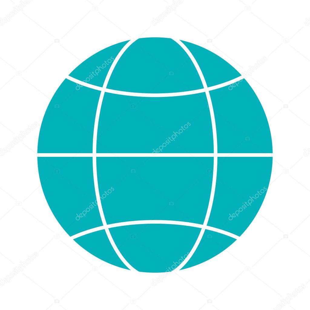 earth globe diagram icon — stock vector