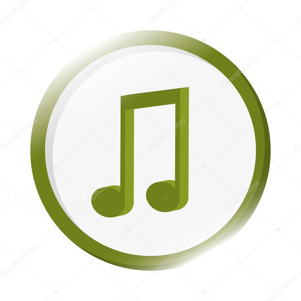Quaver Musical Note Icon Stock Vector Jemastock 118537444