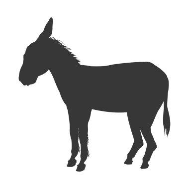 donkey silhouette icon