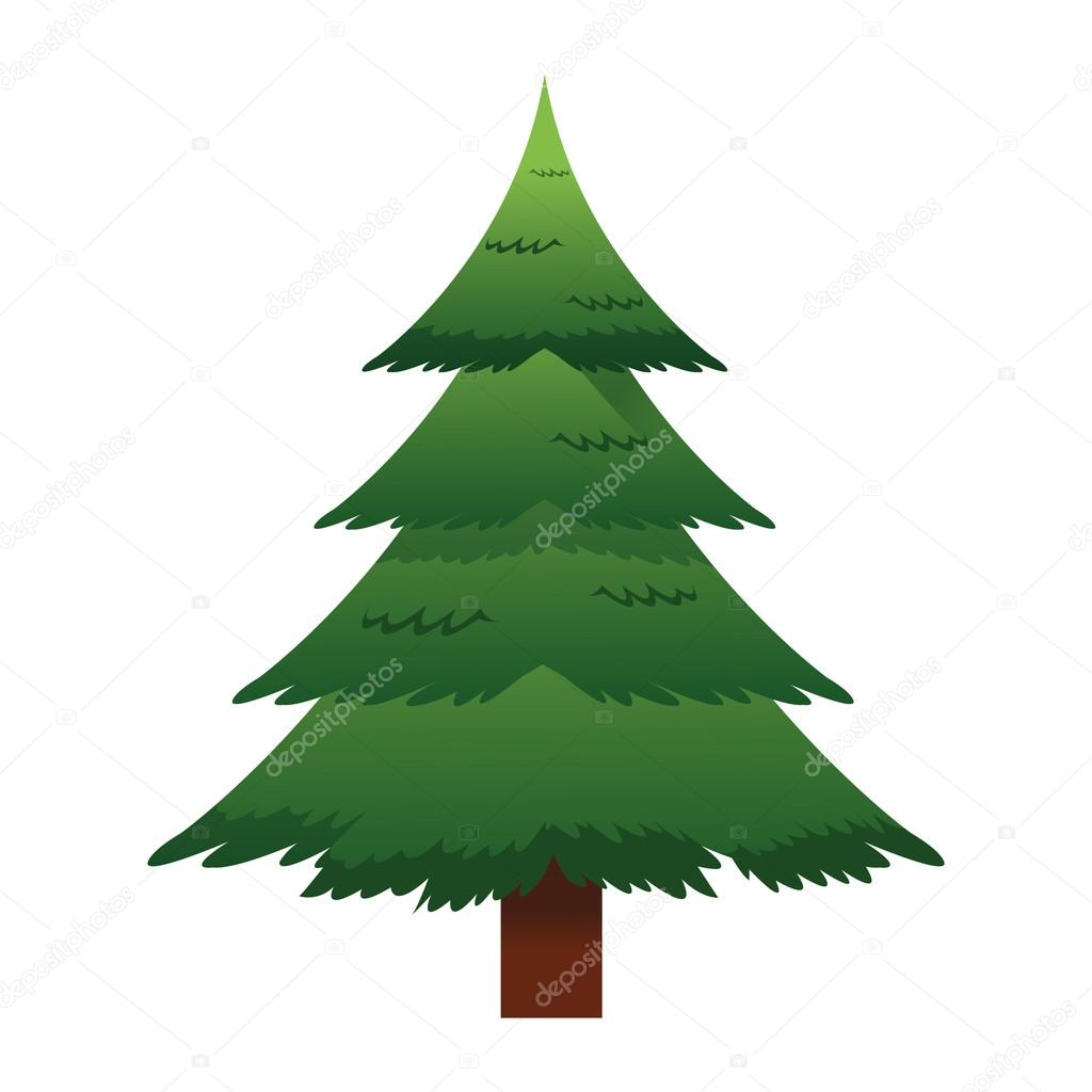 Pine Tree Pictogram Stockvector Jemastock 118704624