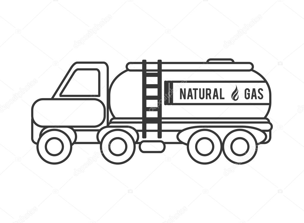 Icono de cami n a gas natural archivo im genes for Imagenes de gas natural