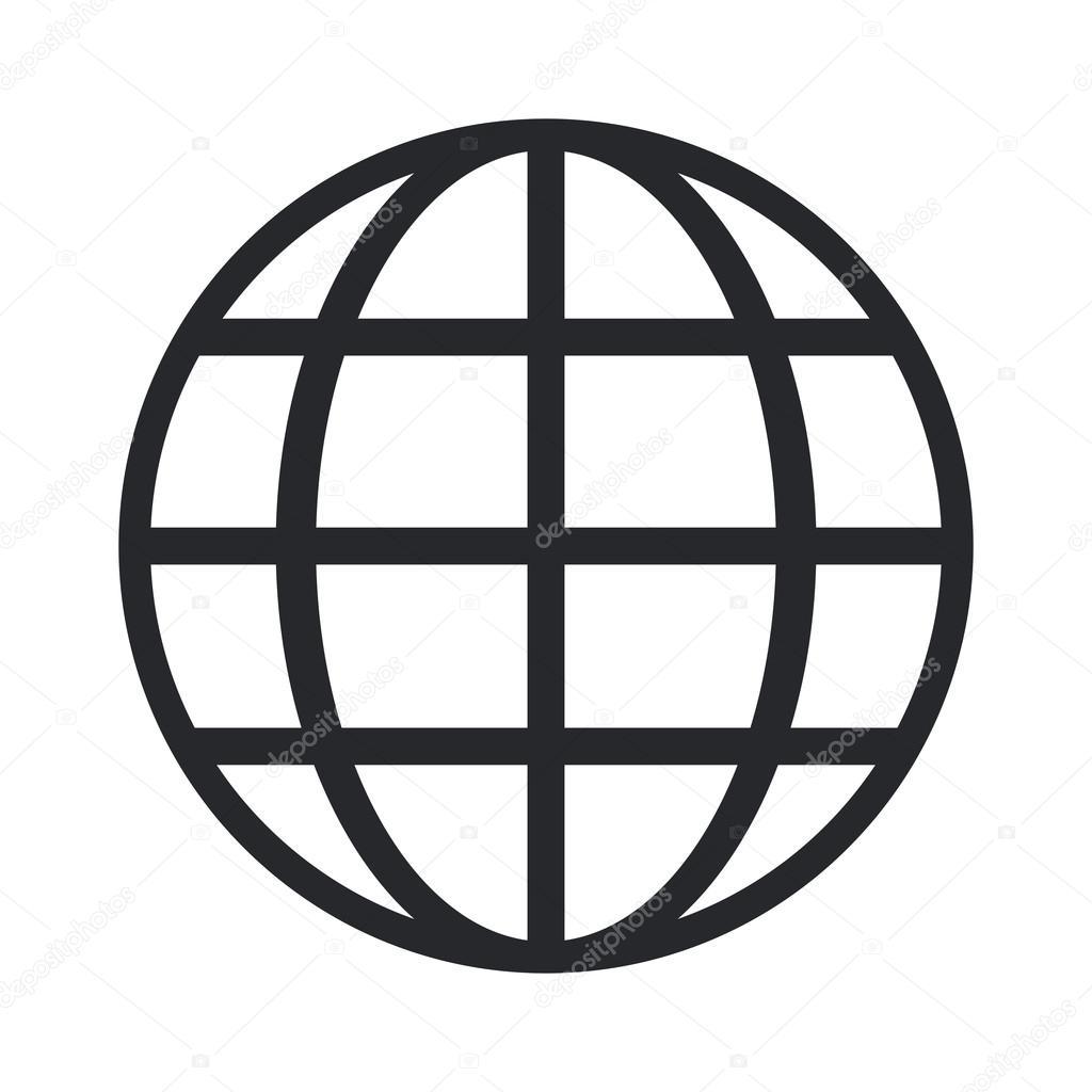 earth globe diagram icon — Stock Vector © jemastock #119358286