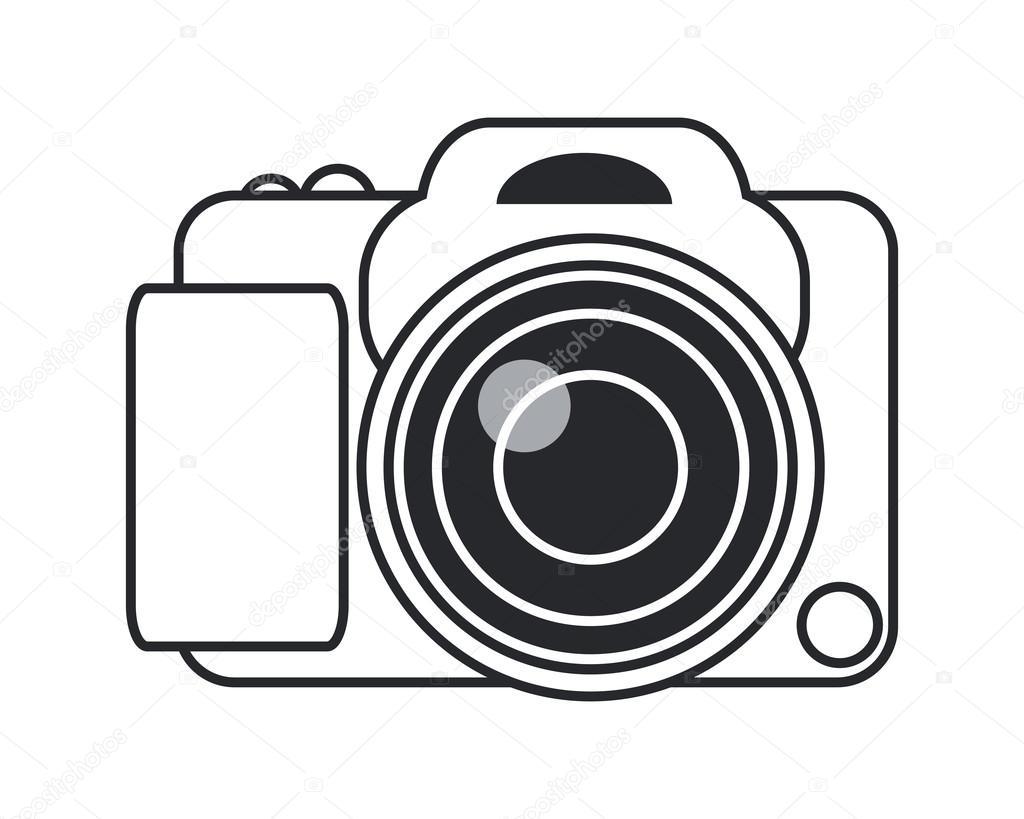 Vector: Icono Camara Fotografica Png