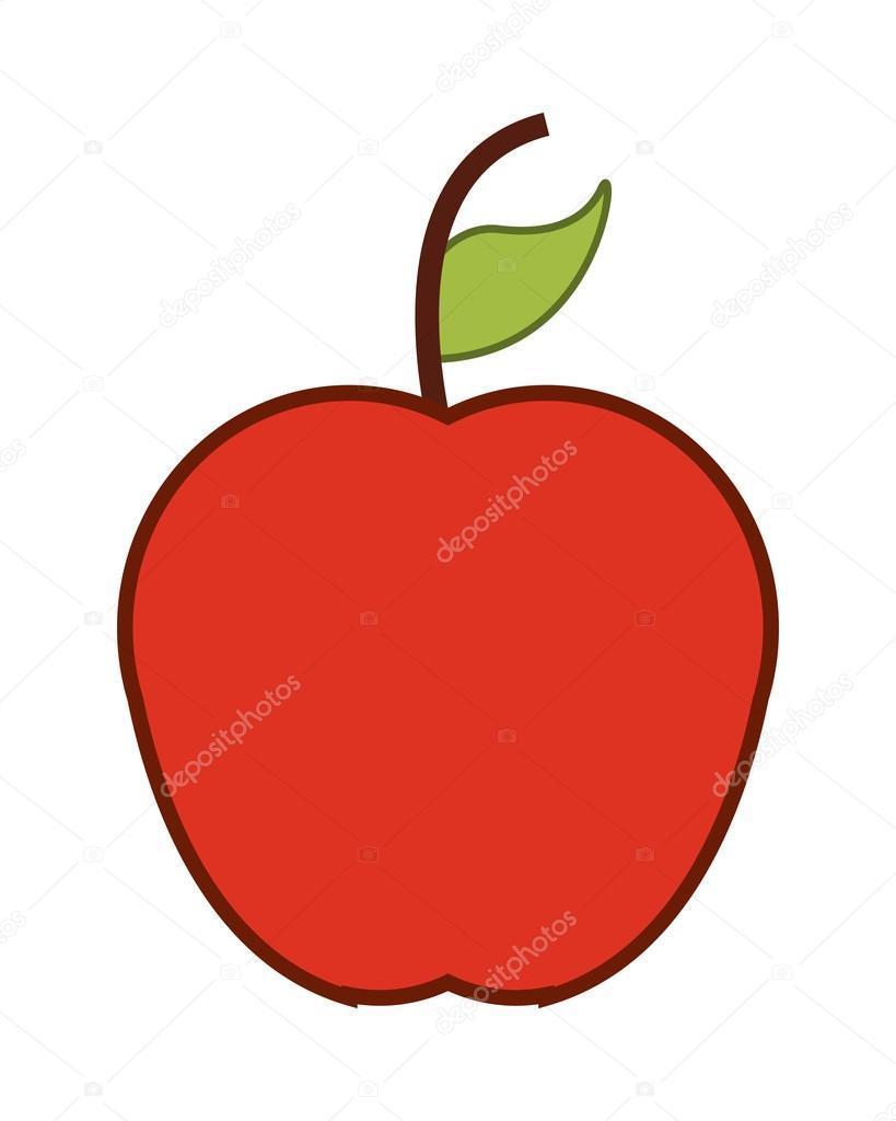 Tek elma simgesi — Stok Vektör © jemastock #119360170