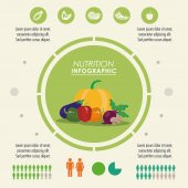 Infographic icon. Nutrition design. Vector graphic