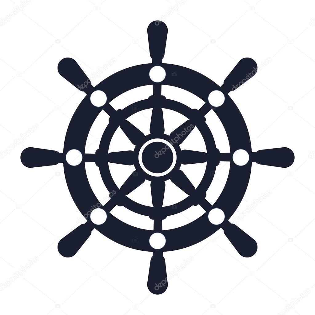 White sailboat silhouette
