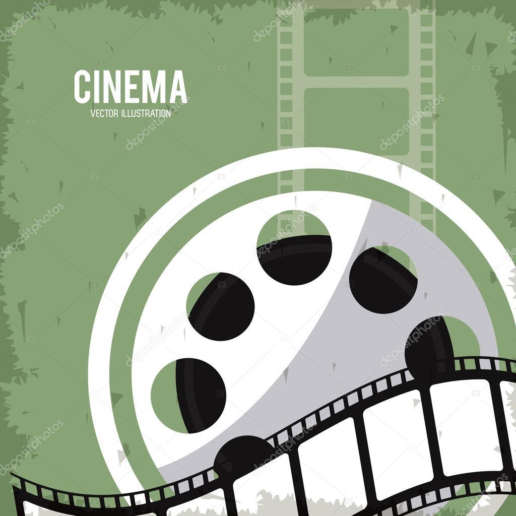 Reel Strip Movie Film Cinema Icon Vector Graphic Stockvektor