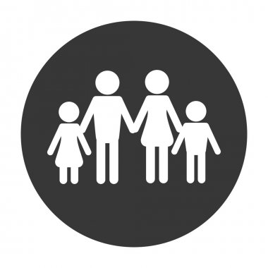traditional family pictogram icon