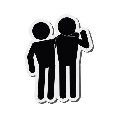 solidarity pictogram icon