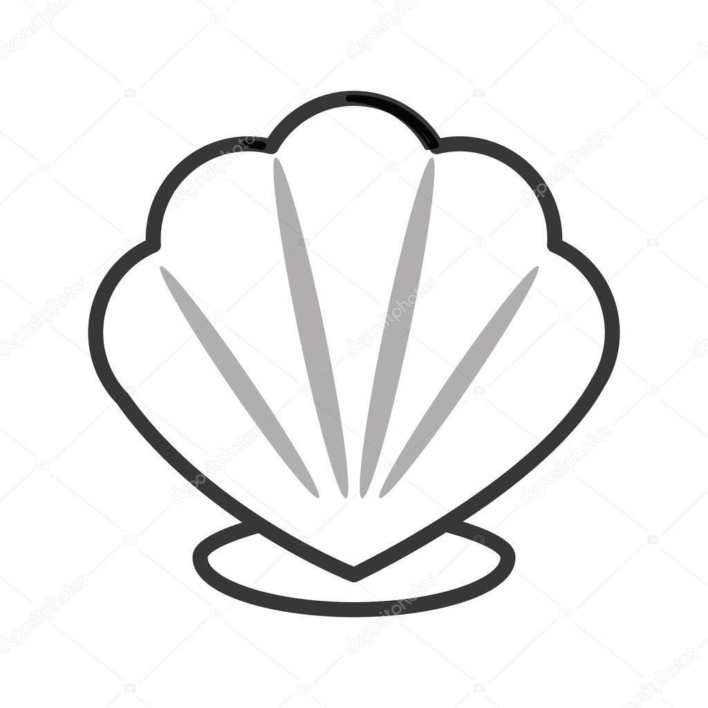 Images: seashell cartoon | Cartoon seashell icon — Stock ...