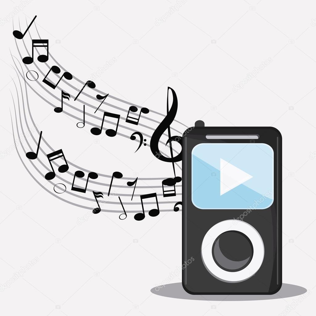 icône festival des médias audio note musique mp3 — Image vectorielle