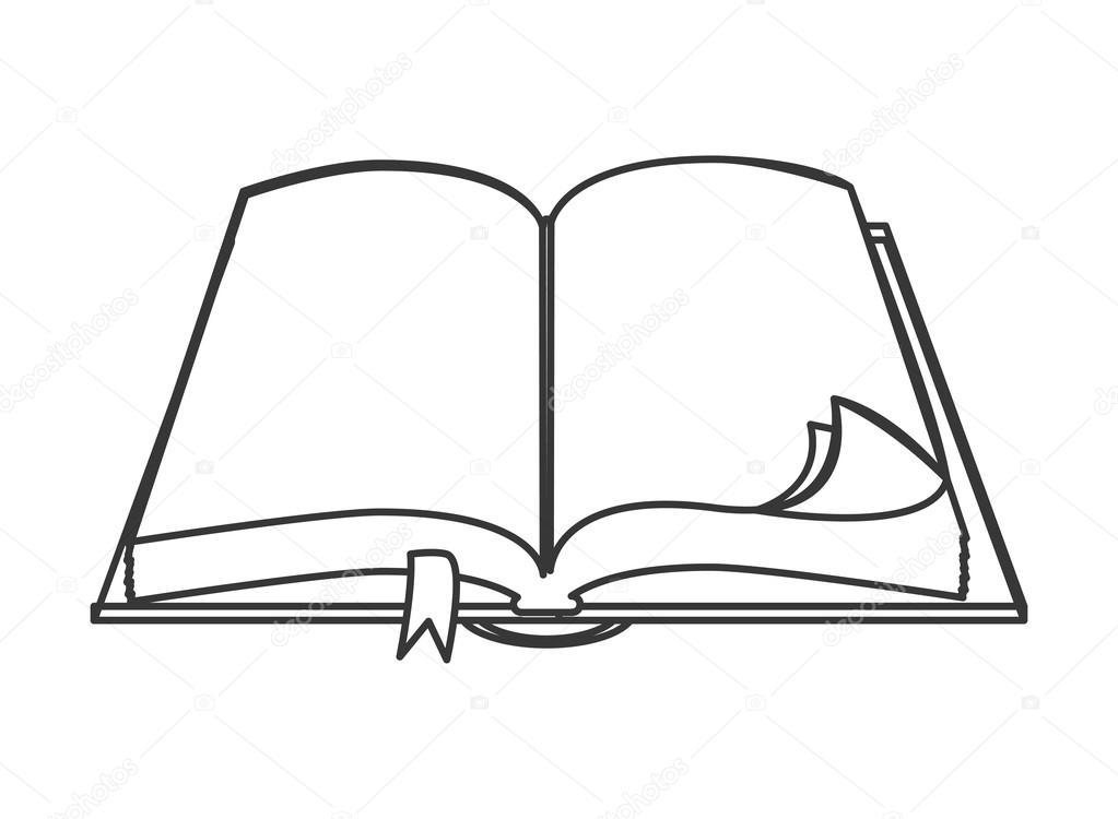 Imágenes: libro abierto para colorear   icono de libro abierto