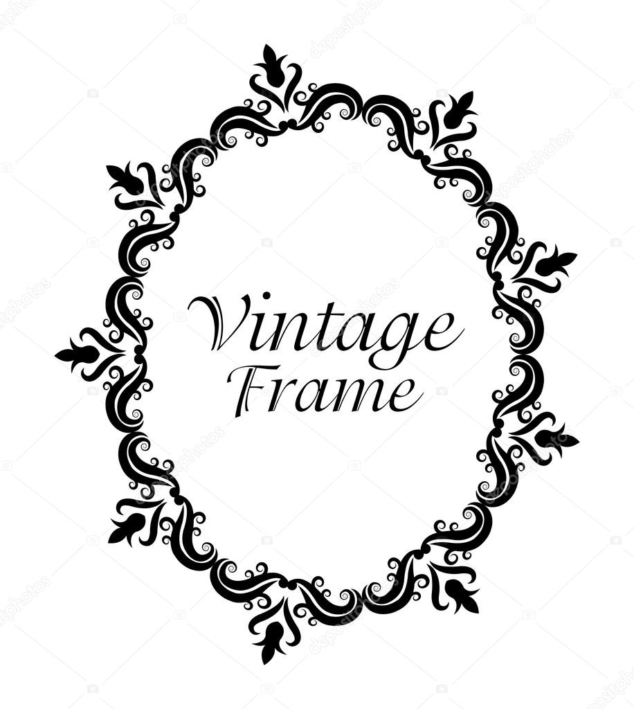 Vintage-Rahmen Ornament-Symbol — Stockvektor © jemastock #119816586