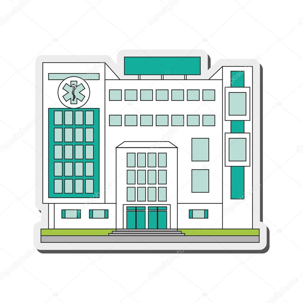 hospital que construye icono — Archivo Imágenes Vectoriales ...