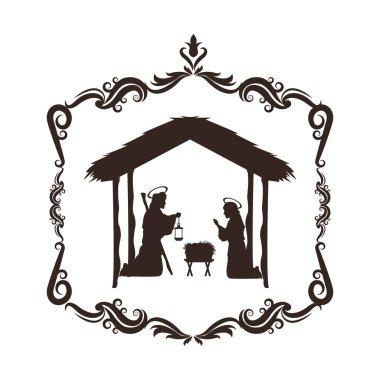 joseph mary holy family christmas design