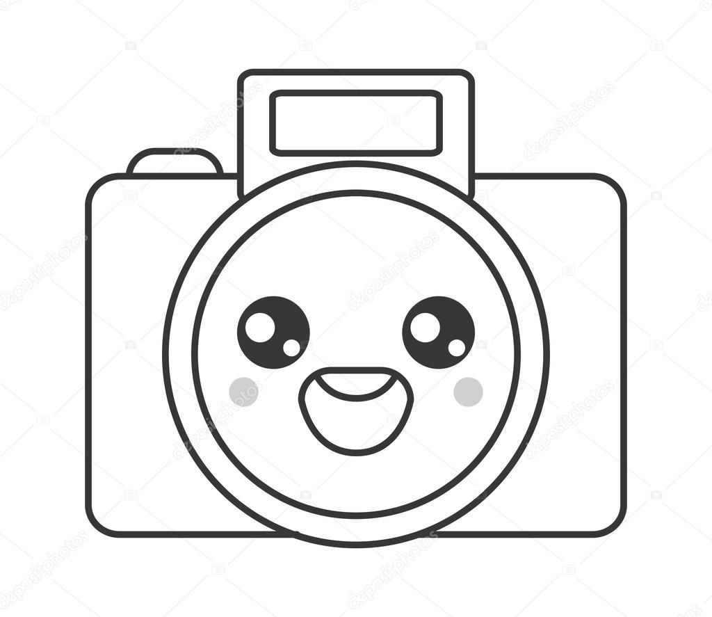 icono de c mara fotogr fica de kawaii vector de stock jemastock 120395450. Black Bedroom Furniture Sets. Home Design Ideas