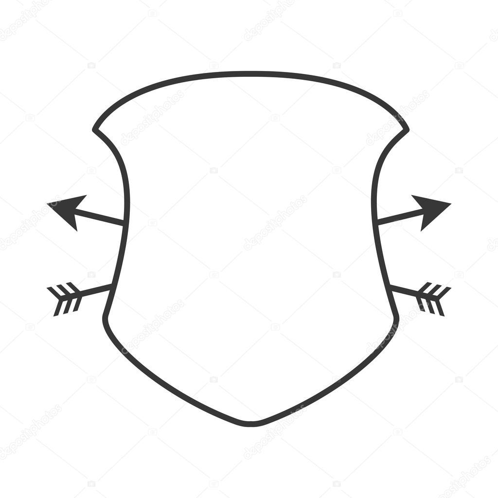 diseño de etiqueta de seguridad protector marco — Vector de stock ...