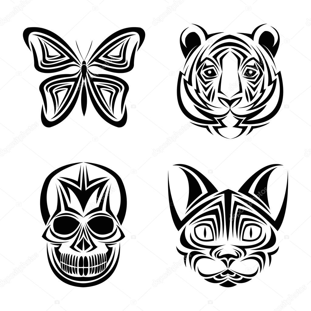 Tattoo symbol of vikings stock vector funwayillustration 65742255 skull butterfly tiger cat tattoo design biocorpaavc