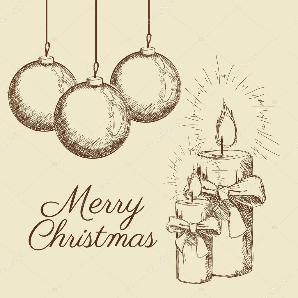 Frohe Weihnachten-Skizze-design — Stockvektor © jemastock #120873476