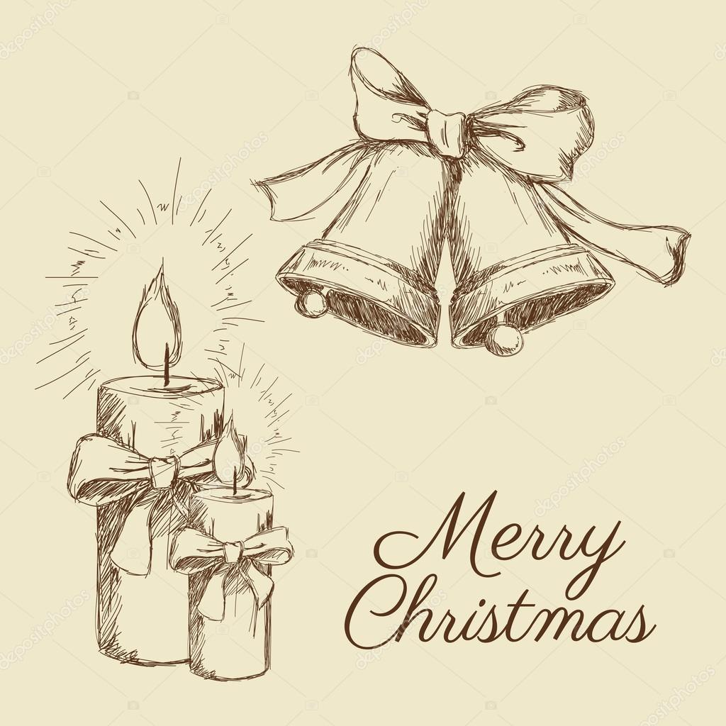 Frohe Weihnachten-Skizze-design — Stockvektor © jemastock #120873986