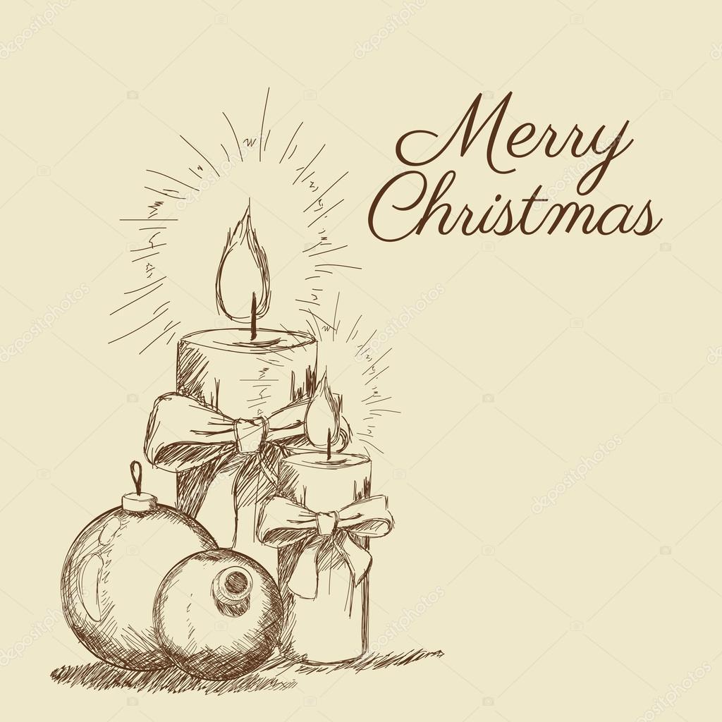 Frohe Weihnachten-Skizze-design — Stockvektor © jemastock #120888048