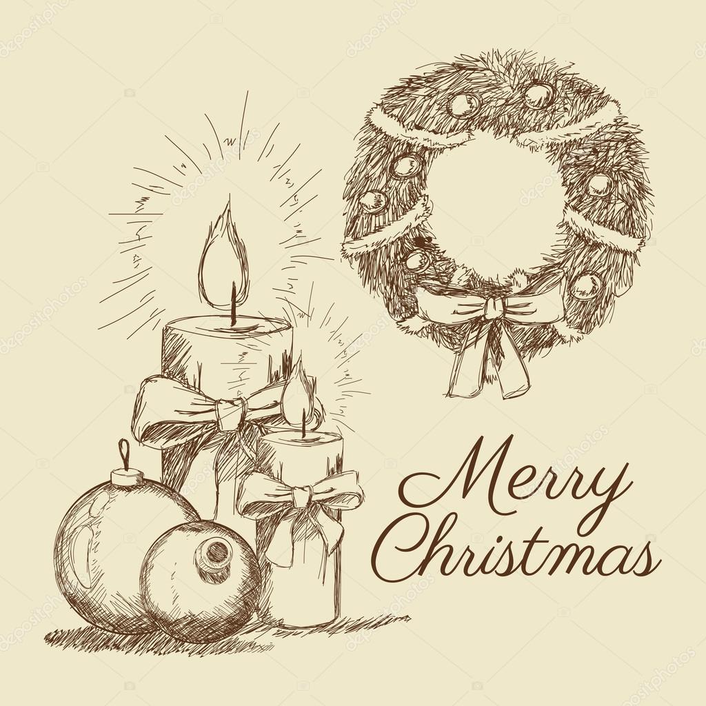 Frohe Weihnachten-Skizze-design — Stockvektor © jemastock #120893420