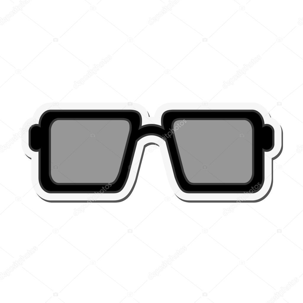 quadratischer Rahmen Sonnenbrillen-Symbol — Stockvektor © jemastock ...