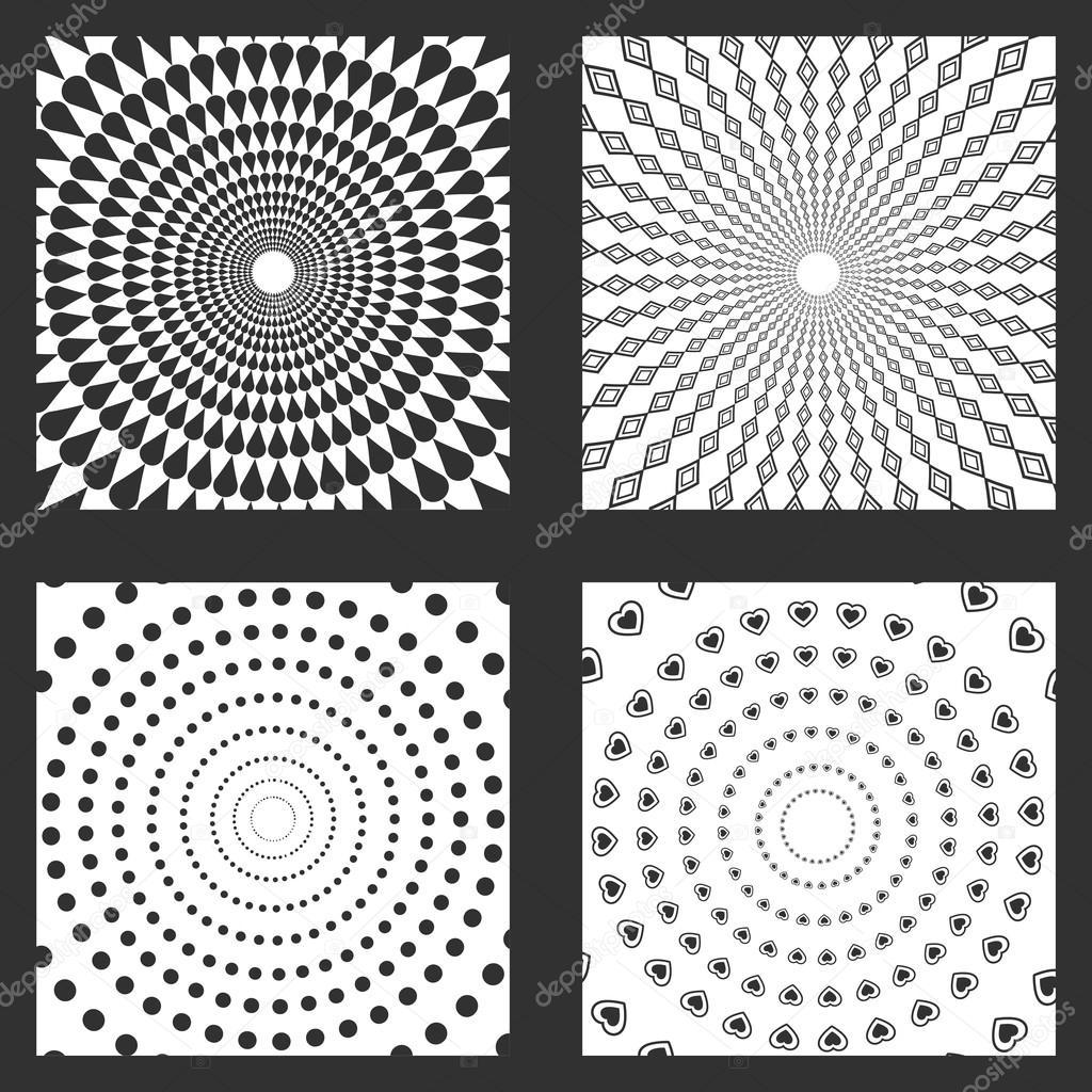four frames of wallpapers design — Stock Vector © jemastock #121219036