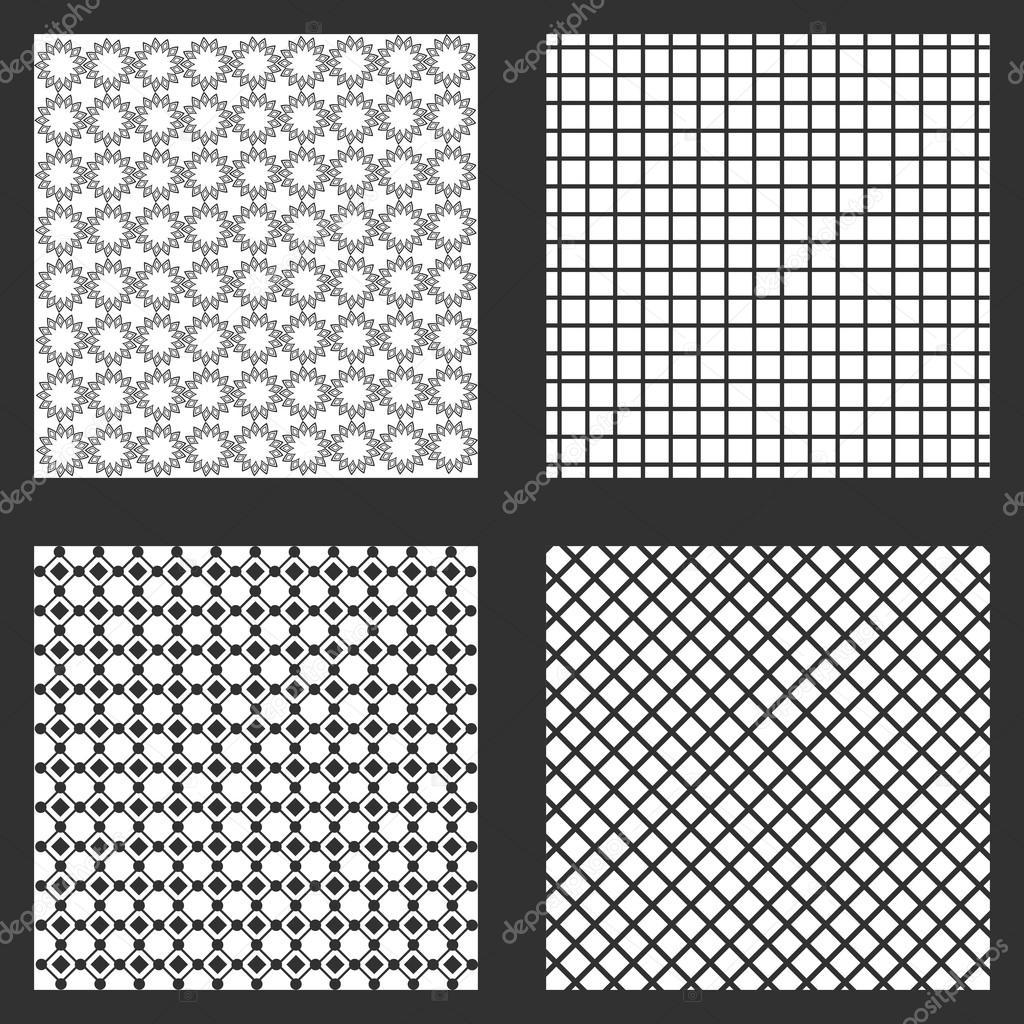 four frames of wallpapers design — Stock Vector © jemastock #121221270