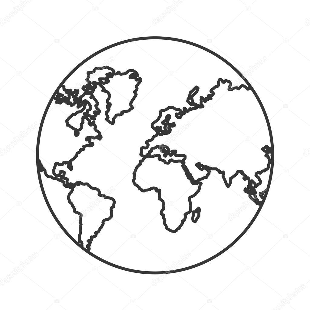Planeta zem sv tov ho designu stock vektor jemastock - Immagine da colorare della terra ...