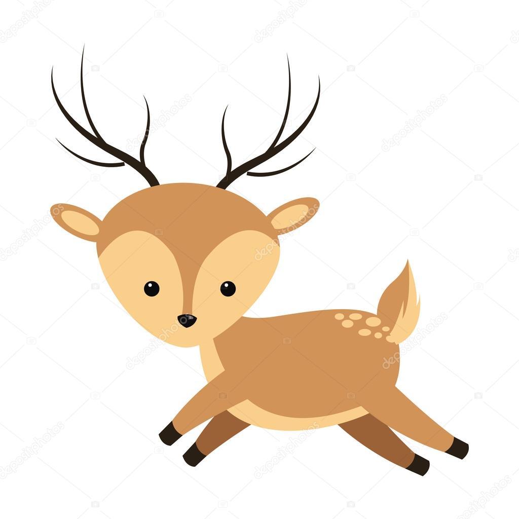 icono de dibujos animados lindo Reno — Vector de stock © jemastock ...