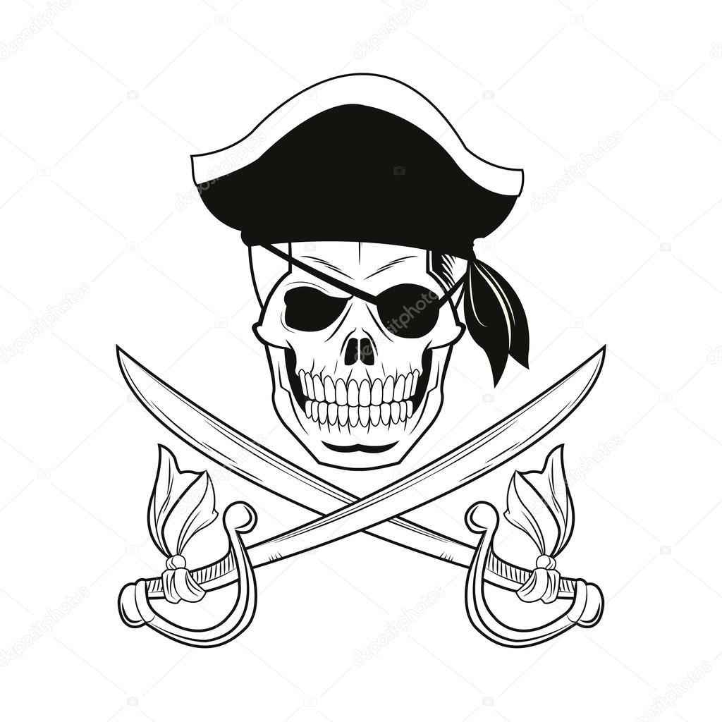 Dibujos Calaveras Piratas Para Imprimir Diseño De Tatuaje De