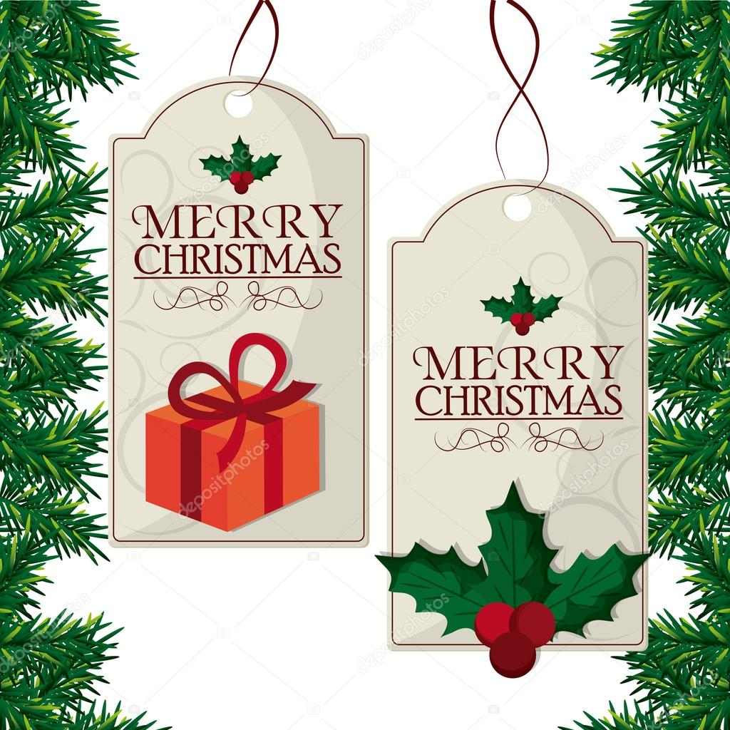 Merry Christmas Labels.Merry Christmas Labels Design Stock Vector C Jemastock