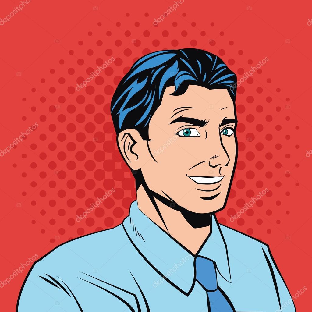 Pop Art Design Of Man Cartoon Stock Vector C Jemastock 124313426