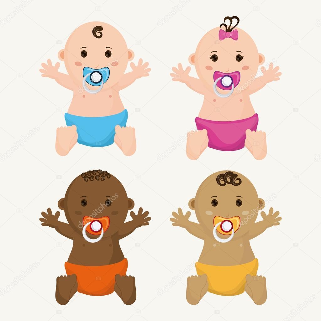 Dibujos Dibujo Bebe Niña Bebé Niño Y Niña De Dibujos Animados