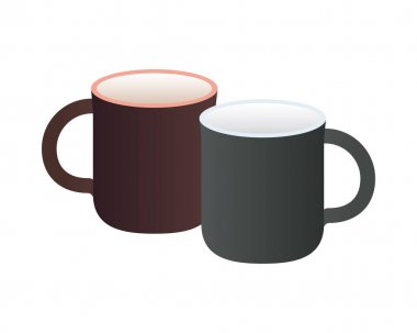 Mugs ceramic mockup isolated icons vector illustration design icon