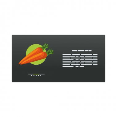 Envelope mail mockup with carrots healthy food vector illustration design icon