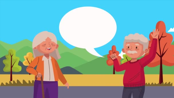 old couple lovers dancing activity characters
