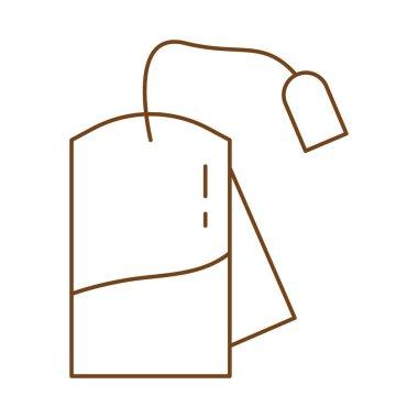Tea bag line style icon vector illustration design icon