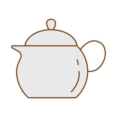Tea pot fill style icon vector illustration design icon